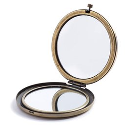 blank mirrors Coupons - Blank Round Metal Compact Mirror Makeup Cases 3 Colour DIY Mirror 1 pc Fashion New Hot Makeup