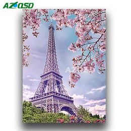 AZQSD Plein 5D DIY Diamant Peinture Paris Tour Diamant Broderie Paysage Image de Strass Mosaïque Perle Travail Décor À La Maison Y18102009 ? partir de fabricateur