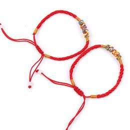 2019 chinesisches rotes armband OPPOHERE 2Pcs Red String Thread einstellbare Armband chinesischen orientalischen Glück Schmuck neu rabatt chinesisches rotes armband