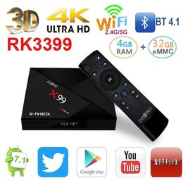 Wholesale C Media Player - RK3399 with Dual-Core X99 Amlogic S912 Voice Remote Contro Type-C 3.0 Android 7.1 TV BOX 4K BT4.1 Smart Media Player