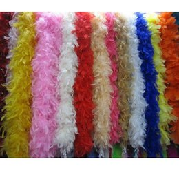 Wholesale Craft Dresses - Fluffy Feather Boa Garland Feathers Boas Clothes Craft Wedding Dress Party Hat Decor 2m Length High Quality