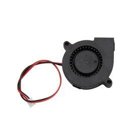 Resfriamento dc ventilador on-line-10 PC Peças de Impressora 3D Refrigeração Ventilador Turbo 12 V 50x50x15mm 40x40x10mm 2Pin Sem Escova Para Extrusora DC Ventilador Do Ventilador DIY