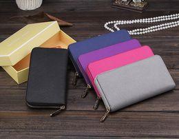 Wholesale Card Holder Cheap - Hot! wholesale 2018 M K famous brand fashion single zipper luxury women Genuine leather wallet lady ladies woman Cheap long purse