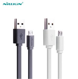 Cabo original asus on-line-Original nillkin universal flat micro usb 2.0 cabo de dados cabo de carga 120 cm 5 v 2a cabo de carga rápida 2a asus zenfone 6 cabos
