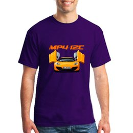 2020 mp4 progettazione mclaren MP4-12C T-Shirt Design maschio Orangic Cotton Tees Humor Saiyans Uomo personalizzato coppia T-shirt mp4 progettazione economici