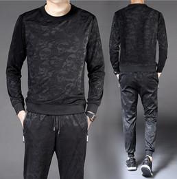 Canada T-shirt à manches longues pour 2018 nouveaux costumes pour hommes costume de sport tendance tendance coréenne occasionnels hommes Jogging Vêtements Offre