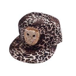 leopard flat cap Desconto Leopardo unisex elegante da cabeça do leão do metal