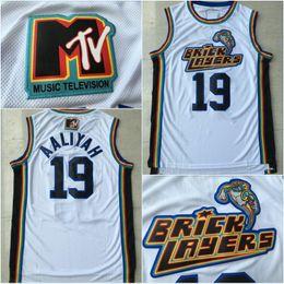 Wholesale Jock Xl - Men's 19 Aaliyah Bricklayers 1996 MTV Rock N Jock Movie Jersey Throwback Fashion Wholesales Lowest Price Free Shipping