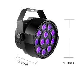 led light club dj par Rebajas DMX512 Master-slave UV LED Stage Light 36W Ultraviolet Black Light Par Light Spotlight lamp para Disco DJ Club Auto Sound Active