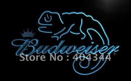 Wholesale Beer Sign Led - LE084- Budweiser Frank Lizard Beer Bar LED Neon Light Sign home decor crafts