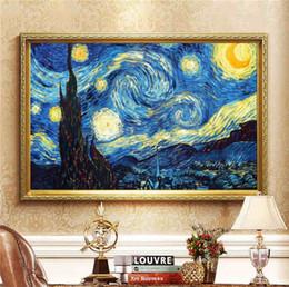 2019 amerikanische indische malereien Dekoration DIY 5D Diamant Stickerei Van Gogh Sternennacht Kreuzstich kits Abstrakte Ölgemälde Harz Hobby Handwerk