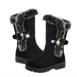 Wholesale Decorative Metal Pieces - 2018 winter rough with wool mouth warm snow boots women's boots metal decorative sleeve cotton boots Selling thousand pieces Not smelly feet