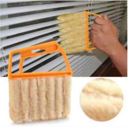 Wholesale Household Blinds - Fashion Hot Vertical Window Blinds Brush Cleaner Mini 7 Shape Hand Held Window Brush Pinceis Novelty Households Cleaning