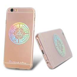 Wholesale Ten Phones - Ultrathin Transparent Phone Case for iPhone 6s Plus 7 8 Universe The Ten Planet Painting Design Cell Phone Cover