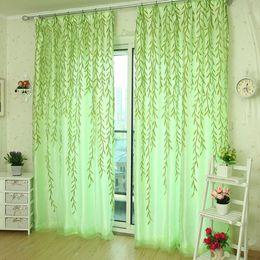 2018 Wohnzimmer Vorhang Tafeln Willow Tulle Tür Fenstervorhang Drape Panel  Sheer Schal Volants Vorhänge Für Das