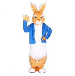 Costume complet de mascotte de lapin en Ligne-Lapin Peter costumes mascotte Noël mascottes unisexe costume robe élégante pour les adultes pleine tenue Hallween Purim Soirée