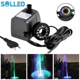 Mini fontane online-Mini pompa sommergibile SOLLED con luce a LED per acquari KOI Fish Pond Fountain Waterfall