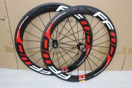Wholesale Carbon Wheel Brake Surface - 700C 23mm width FFWD F6R Carbon Wheels 60mm Clincher Road bike Wheelset 3K with Basalt Brake surface bicycle wheel
