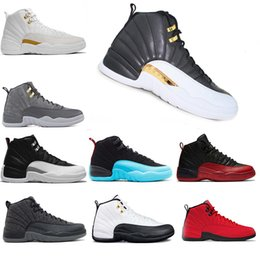 new concept 4cd31 812b8 Air Jordan Retro 12 AJ12 Nike Wholesale billig Basketball Schuhe Sneaker 12s  WINGS Bulls UNC Wolle Französisch blau Taxi Männer Sports Sneaker Herren ...