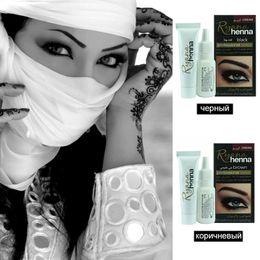 Canada Maquillage Professionnel Sourcils Cils Henné Crème Naturel Plante Couleur Mehendi Teinture Des Yeux Teint Marron Noir Avec Cadeau cheap henna cream Offre