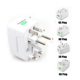 Wholesale travel adapter surge protector - Travel universal wall charger power adapter for plug Surge Protector Universal International Travel Power Adapter Plug US UK EU AU AC Plug