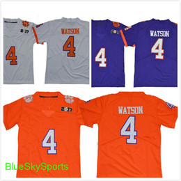 Clemson 4 Deshaun Watson jersey de fútbol Diamond Quest Limited College  Football Jerseys blanco naranja púrpura cosido orange youth football  promotion 8db5b9dad
