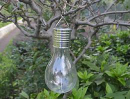12-вольтовая лампочка Скидка Солнечная лампа, водонепроницаемый Солнечный вращающийся Открытый сад кемпинг висит клип светодиодные лампы