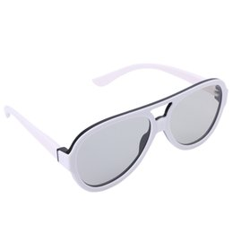 Wholesale universal cinema - Universal Circular Passive Polarized 3D Glasses For TV Real 3D Cinema 0.42mm