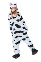 Cosplay disfraces de vaca online-Unisex Adultos Disfraces de Halloween Disfraz Disfraz Cosplay Kigurumi Onesie Pijamas Vaca