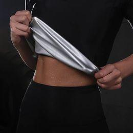 36b824dd1f06d Hot Sweat Yoga Shirts Slim Half Zipper Fitness Jogging Running Sport T-Shirts  Loose Weight Body Shaper Women Yoga Tops Plus Size