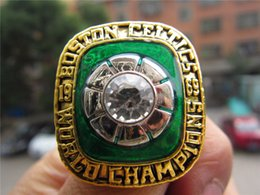 Wholesale Boston Ring - whole saleDrop Shipping 1969 Boston Basketball World Celtics Championship Ring With Wooden Box Fan Men Gift High quality Wholesale