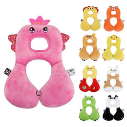 Wholesale Baby Infant Car Seat Covers - Cartoon Baby Shaping Pillow Infant Car Travel Sleeping Pillow Headrest Neck support Protection Cartoon Seat Covers R4