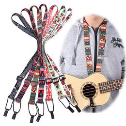 guitarra clássica de nylon Desconto Correia da guitarra Ajustável Clássica De Nylon Cinta Ukulele Estilingue Colorido Com Gancho Para Acessórios de Guitarra Ukulele
