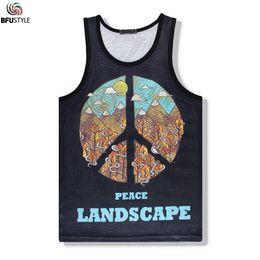 Wholesale Mens Vest Wholesale - Wholesale- Brand Mens Summer Tank Tops 3D Print Letters Vest Jersey 2017 Sleeveless Tops Tees Shirts Bodybuilding Sportswear Tank Top XXL