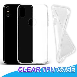 Wholesale ultra thin tpu case - For iPhone X 7 8 Plus Ultra Thin Shockproof Clear TPU Case Soft Gel Transparent Case Back Cover For Samsung S8 S9 Plus Note 8