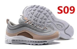 Wholesale Anniversary Deliveries - Fast delivery Women Men Running Shoes Air cushion 97 Mens Low Running Shoes Cushion Mens Womens OG Silver Gold Anniversary Edition Sneakers