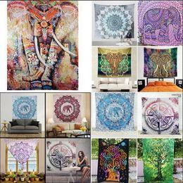 Wholesale mat kids - 150*130CM Indian Bohemian Mandala Tapestry Wall Hanging Beach Picnic Throw Rug Blanket wall hanging Decor yoga kids mat AAA571