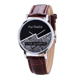 Уплотнения смотреть онлайн-2018 FanTeeDa women watches#FD101 Mountain stripe seal without scale dial leather ladies casual watch Gift zegarki damskie A80