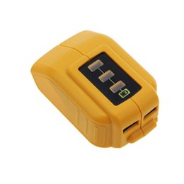 Wholesale 12v Usb Power Supply - 12V 20V DCB090 USB Power Source For Dewalt Cordless Power Supply USB Charger Digital Audio Devises Cameras Charging Adapter