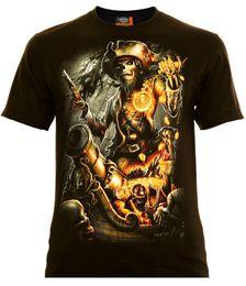 Piratas caribe ropa online-Caribbean Pirates - Rock Eagle camiseta Pirat Skull Totenkopf Hombre Pre-Algodón Ropa 100% Algodón