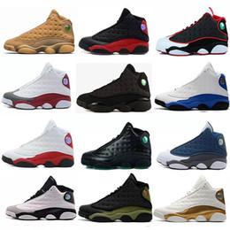 sneakers marron pour femmes Promotion WholeSale Haute Qualité Hommes Basketball Chaussures 13 13 s Femmes Bred Noir Brun Blanc Hologram Flints Gris XIII Sports Sneakers Taille 5,5-13