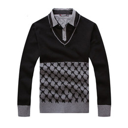 Wholesale Hand Knitted Clothes - 2017 Winter New Man Casual Sweater Men Turtleneck Pullovers Knitted Clothing Mens Sweaters