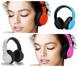 Wholesale Gaming Stereo Headset - Wholesale Wireless Over Ear Bluetooth Headphones with Micophone Over-ear Stereo Earphones for Gaming TV PC (Blue Black Red Pink White)