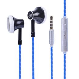 Hifi Standart 3.5mm Aux Portu Kulak Super Bass Kablolu Kulaklık Dijital Ses Kulakiçi Mic Ile Kulaklık Stereo Telefon Için / PC / Tablet nereden kulaklık mikrofon süper bas tedarikçiler
