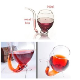 Wholesale Coffee Water Glass - Red Wine Glass Vampire Cup Mug With Juice Tea water coffee in Home Restaurant Bar Party