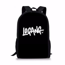 2019 étudiant adolescent Noisydesigns Noir Logang Logo Logan Enfants Sacs d'école pour Teen Boy Girls étudiants Crayon Sac à dos Escolar étudiant adolescent pas cher