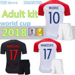 design des chemises rouges Promotion 2018 Conçu pour la maison kit adulte Maillot de foot MODRIC PÉRISTIQUE RAKITIQUE MANDZUKIC SRNA KOVACIC Rouge KALINIC Hrvatska Football Shirt