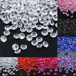 Decorazioni di eventi diamanti online-1000 PZ 4.5mm Decorazione di Nozze Artigianato Diamante Confetti Scatters Tavolo Cristalli Acrilico Trasparente Centrotavola Eventi Rifornimenti del partito