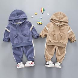 4d078d64f 3t esportes Desconto Conjuntos de Roupas infantis Hoodies Do Bebê + Calças  Meninas Meninos Roupas Outono