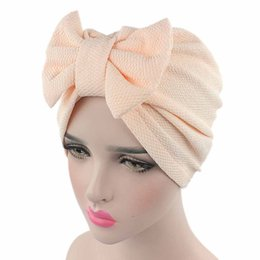 Химическая шапочка онлайн-Fashionable Hot Women Bow Cancer Chemo Hat Beanie Scarf Turban Head Wrap Cap Knitted hat women's winter hats
